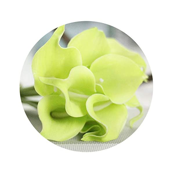 20PCS PU Calla Artificial Flowers Bouquet Real Touch Artificiales para Decora for Home Wedding Decoration Flowers