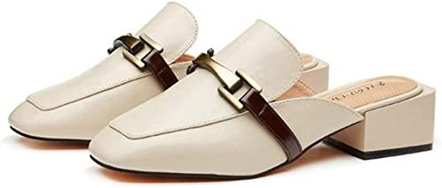 Fuxitoggo Chaussures Baotou Muller (Couleuré   Bianco, Taille   34)