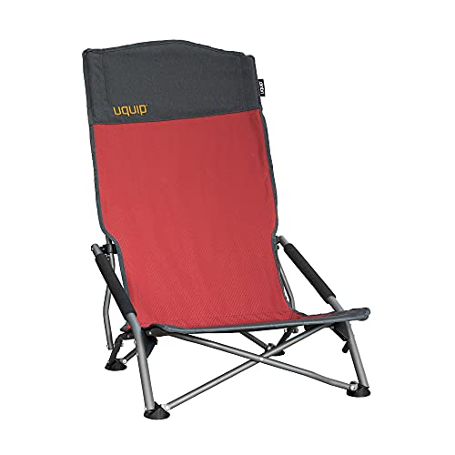 Uquip Sandy XL - Silla Plegable con Respaldo Alto, Tumbona para Exteriores, Capacidad de Carga hasta 120 kg