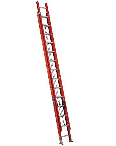 Louisville Ladder Fiberglass Extension Ladder, 28 feet, 300-pound duty rating, Type IA, FE3228,Orange
