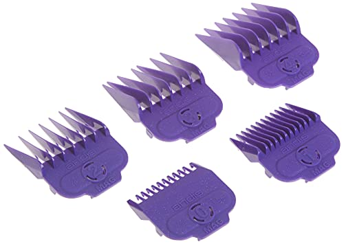 Andis Nano-silver Magnetic Attachment 5 Combs, Small Sizes, 6', 8', 4', 3/8', 2'