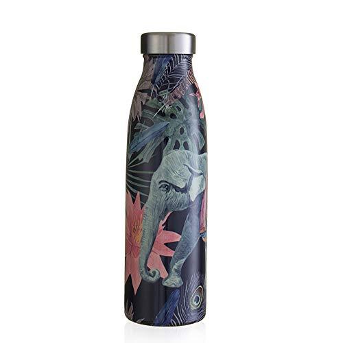 Bouteille isotherme en acier inoxydable de 500 ml à triple isolation pour boissons froides pendant 24 heures, réutilisable, sans BPA/BPS, garantie anti-fuite
