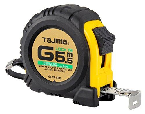 タジマ(Tajima) コンベックス 5.5m×19mm Gロック19 尺相当目盛付 GL1955SBL
