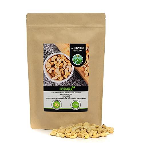 Anacardos crudos (1kg), anacardos naturales y sin sal, anacardos de cultivo controlado