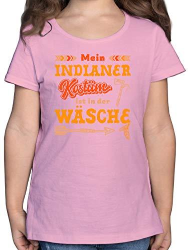 Karneval & Fasching Kinder - Mein Indianer Kostüm ist in der Wäsche - 164 (14/15 Jahre) - Rosa - Indianer kostüm mädchen - F131K - Mädchen Kinder T-Shirt