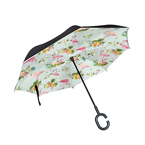 Double Layer Inverted Umbrella Winddichte Regensonnen-Regenschirme mit C-förmigem Griff - Angelic Wings Heavenly Shire Horse Pegasus