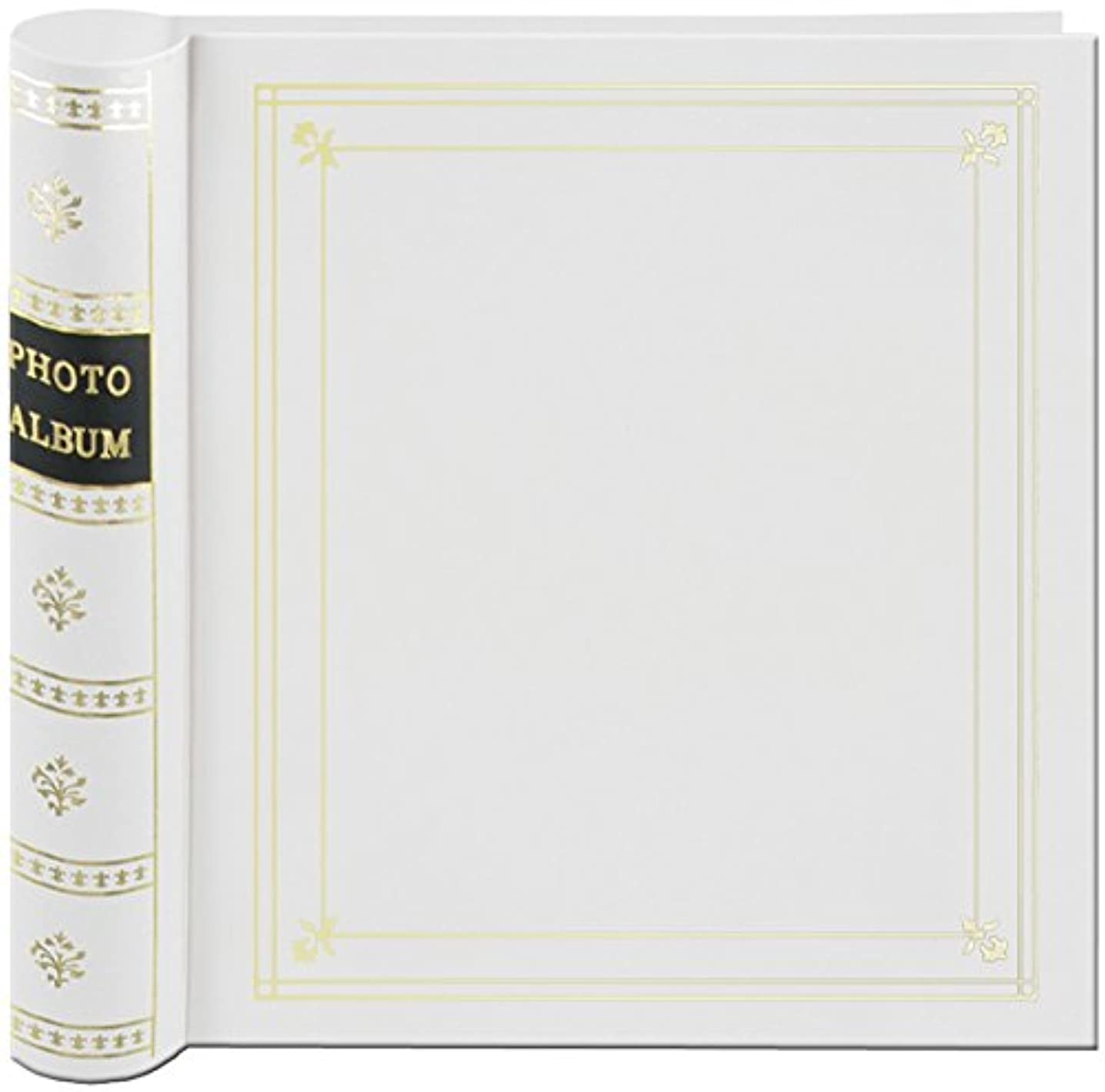 Pioneer Photo 200-Pocket Coil Bound Cover Photo Album for 4 by 6-Inch Prints, White Leatherette with Gold Accents