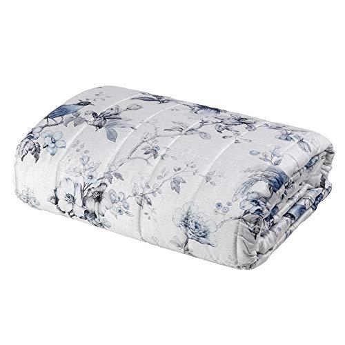 Fazzini Quilt Matrimoniale Henriette - Gesso - Blu