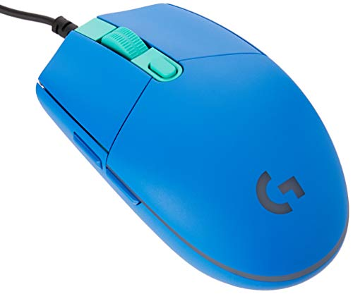 Logitech G203 Prodigy Wired Gaming Mouse, 8,000 DPI, RGB, Lightweight, 6 Programmable Buttons, On-Board Memory, Compatible with PC / Mac - Blue
