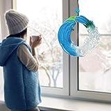 WORUIJIA Fused Acrylic Glass Ocean Suncatcher Ornament Acrylic Glass Wave Sun Catcher Wind Chimes Outdoor Indoor Ocean Catching Decoration Home Decoration (8 INCH)