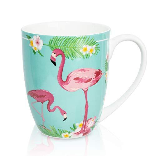 LanHong 12.5 Ounce Animal Mugs Bone Porcelain Coffee Tea Cup Animal Coffee Mug Cute Animal Cup Gift for Friend Dad Mom