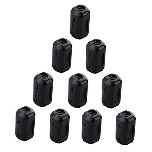 10 piezas UF90B Clip en el anillo de núcleo de ferrita Negro para Cable 9mm de diámetro
