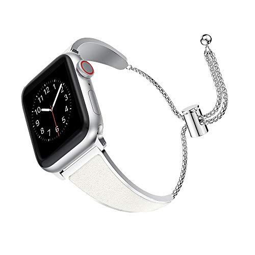 SUPORE Pulsera de Repuesto Compatible Apple Watch, 38mm, 40mm iwatch Correa de Reloj Series 4, 3, 2, 1, Brazalete de la Pulsera de la joyería del Vestido del Metal del Acero Inoxidable
