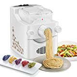 Electric Pasta Maker Machine,Automatic Noodle Maker with 8 Noodle Molds and 1 Dumpling Molds Make...