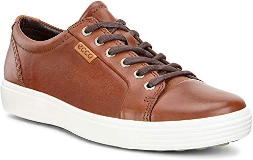 ECCO Men's Soft 7 Sneaker, Cognac Oil Nubuck, 40 M EU (6-6.5 US)