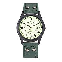 QTMIAO 美しいXINEW時計 メンズ格安腕時計ファッションデイトンレザーミリタリークォーツ腕時計 (Color : 4)