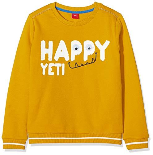 s.Oliver Jungen 63.909.41.4151 Sweatshirt, Gelb (Dark Yellow 1549), 128 (Herstellergröße: 128/134/REG)