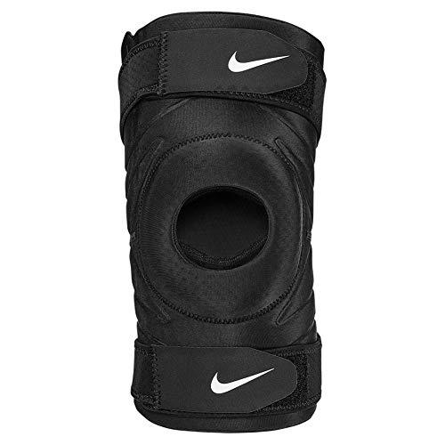Nike Pro Open Knee Sleeve with Strap Knieschoner mit verstellbarem Strap Loch (L)