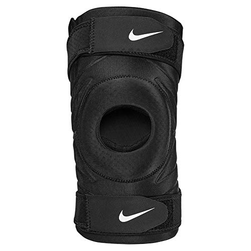 Nike Pro Open Knee Sleeve with Strap Kniebandage mit verstellbarem Strap Loch Patula (XL)