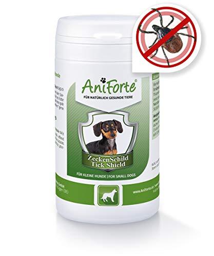 AniForte Zeckenschutz für Hunde (klein bis 10 kg) 60 Kapseln - Natürliches Zeckenmittel, Zeckenschild, Tabletten gegen Zecken, Vorbeugung Zeckenbiss, Zeckentabletten zur Zeckenabwehr, Anti Zecken Hund