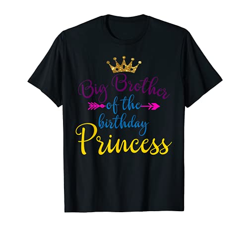Gran Hermano Del Cumpleaños Princesa Partido Familiar Camiseta
