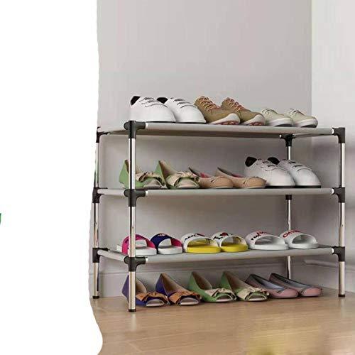 Fácil de montar zapatero pasillo soporte botas rack portátil ahorro de espacio hogar re titular gabinetes de zapatos de metal con pasamanos 3L negro
