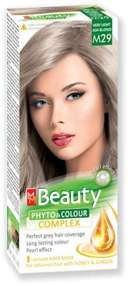 MM Beauty Permanente Haarfarbe MM Beauty Phyto & Farbe 125g - № M29 Sehr helles aschblondes