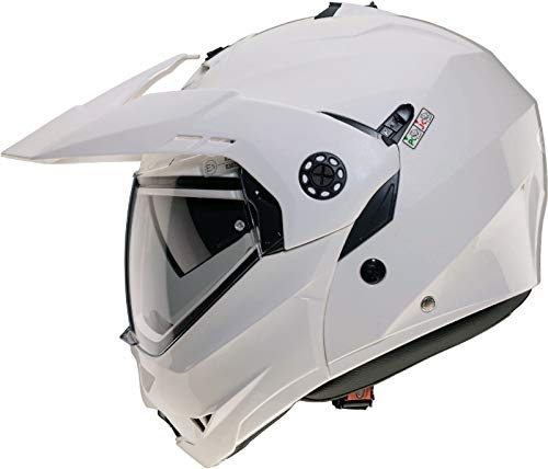 Caberg Tourmax casco integrale–bianco metallizzato