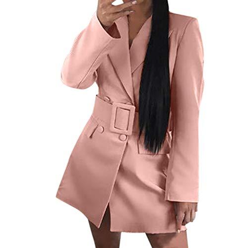 Vectry Mujer Loose Blazer Top Manga Larga Chaqueta Casual Señoras Ropa De Oficina Abrigo Blusa 2019 Nuevo Chaqueta Casual Abrigos Mujer
