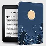 Kindle Cover,Funda Kindle con Diseño De Bosque De Luna Y Tapa Trasera Compatible con Kindle Paperwhite Funda para Kindle 7Th Generación Auto Sleep / Wake De Décima Generación, N. ° J9G29R