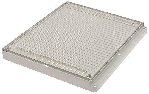 Horeca-Select afdekking voor ventilator breedte 425mm wit hoogte 36mm kunststof diepte 380mm