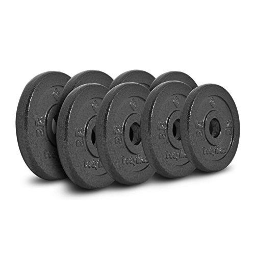 Bodymax Standard Hammertone Weight Disc Plates - 8 x 1.25kg