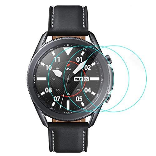 CAVN Proteggi Schermo Compatibile con Samsung Galaxy Watch 3 45 mm [3 pezzi], Copertura Completa, Protezione Protettiva in Vetro Temperato Antigraffio Senza Bolle