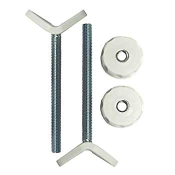 Baby Gate Guru Extra Long M10  10mm  Stair Banister Adapter Y-Spindle Rods 2 Pack for Pressure Mounted Baby and Pet Safety Gates  10mm White