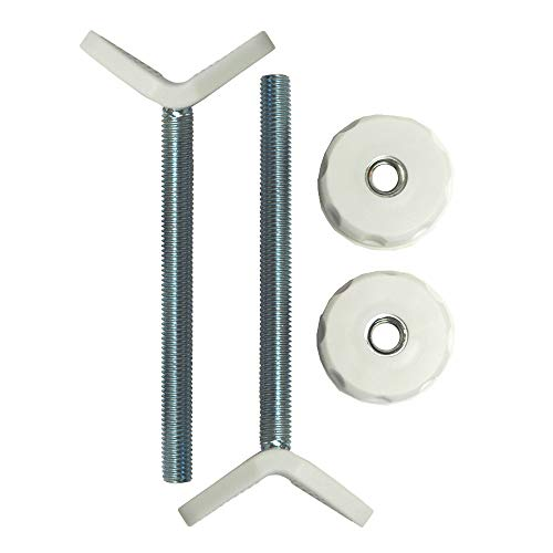 Extra Long M10 (10mm) Y-Spindle Rod Stair Bannister Adapters for Pressure Mounted Gates - 2 Pack for Baby and Pet Safety Gates - Choose Your Size and Color (10mm, White)