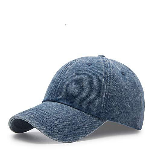 MGUOH grote maat denim zonnehoed mannelijk buiten vissen zonnehoed mannen plus maat jeans wassen baseballmutsen 56-62cm