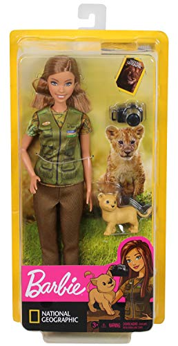 Barbie National Geographic Quiero Ser Fotógrafa, muñeca con accesorios (Mattel GDM46)