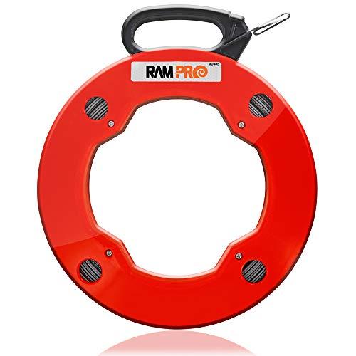 ram-pro 200pies Reach, acero cinta de peces carrete, con alto impacto caso,...