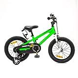 NB Parts - Bicicleta infantil para niños y niñas, BMX, a partir de 3 años, 12 pulgadas / 16 pulgadas, color verde, tamaño 16