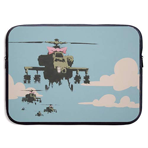 Laptop Sleeve Case Cover Bag, Computer Travel Pocket Pouch Handbag Compatible, Portable Tablet Slipcases Carry Bag for MacBook/HP/Acer/Asus/Dell Cartoon Helicopter Colud 13 15 inch