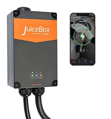 JuiceBox Pro 16 - Intelligente 11 kW Elektroauto Ladestation mit Typ 2 Ladekabel (WLAN/WiFi, Smart App und Alexa Steuerung)