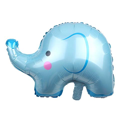 ZLJTT 1Pc Palloncino in Stagnola di Elefante per Baby Boy Ragazza Decorazioni per Feste di Compleanno Baby Shower Palloncini Gonfiabili per Bambini Giocattolo Animale, Azzurro di Cielo