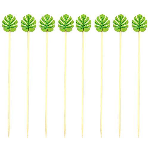 Dylan-EU 200 pcs Palitos para Cócteles Palillo de Dientes de Bambú para Cerezas Aceitunas Snacks Sándwiches Aperitivos Barbacoa