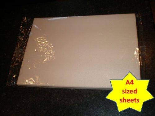 Carlton Trading - 10 Blätter Qualitäts Waffel / Reis Papier Weiß - Größe A4