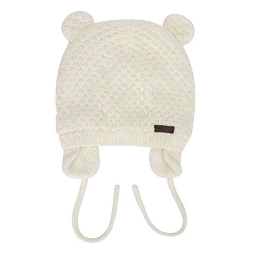 MK MATT KEELY Baby Mütze, niedliche Bärenform, gefüttert, mit Ohrenklappe, Baumwolle, für Herbst und Winter, 0-12, 12-24 Monate