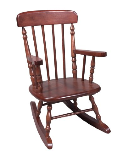 Gift Mark Deluxe Children's Spindle Rocking Chair, Cherry