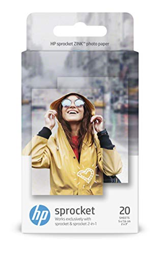 HP W4Z13A, 2 x 3 Inch, ZINK Sticky-Backed Photo Paper, 290 gsm, 20 Sheets