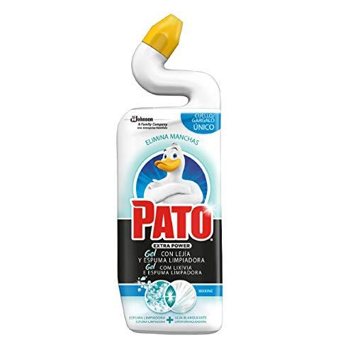 PATO® - WC Power Lejía Fragancia Marine, Limpiador Quitamanchas para Inodoro, 750 ml