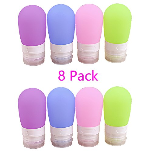 Magik Squeezable & Refillable Silicone Travel Carry-on Bottles Containers 2.7 Oz / 80 Ml by Magik