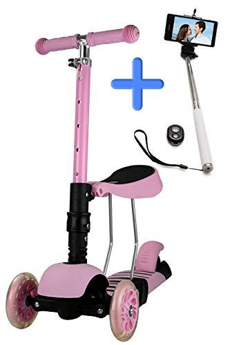 Airel PACK 1 Selfie Stick + 1 Scooter 2 In 1 | Scooter Voor Kinderen Scooter 3 Wielen Kinderen | Fiets Zonder Pedalen | Kinderfiets Loopfiets